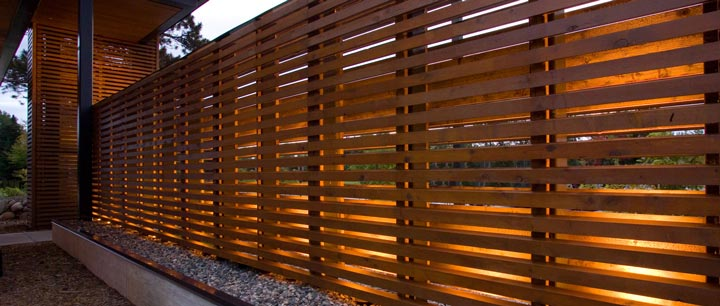 Architecture Vogue Horizontal Wood Plank Fencing Sala