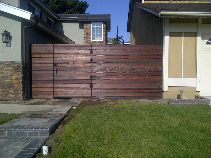 Architecture Vogue Horizontal Wood Plank Fencing SALA Architects Inc